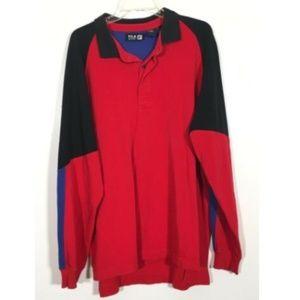 FILA Sport Downhill Vintage 90's Pullover Shirt